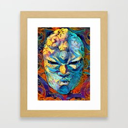 Stone mask Framed Art Print