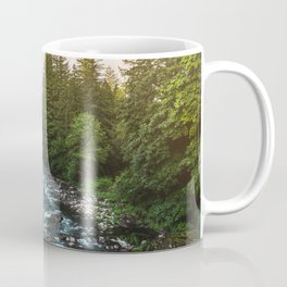 PNW River Run II - Pacific Northwest Nature Photography Coffee Mug