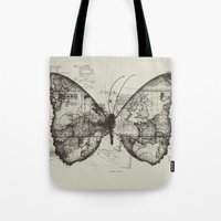 backpack Tote Bags featuring Butterfly Effect by Tobe Fonseca