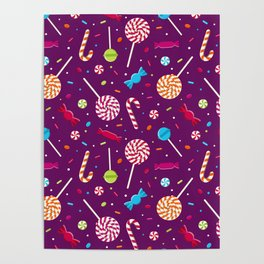 Delightful Candy Pattern Poster