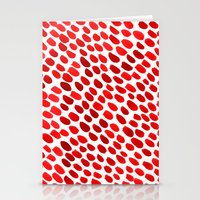 pomegranate Stationery Cards featuring Pomegranate by Hye Jin Chung