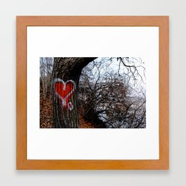 Love Tree Framed Art Print