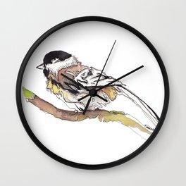 Black Capped Chickadee Wall Clock