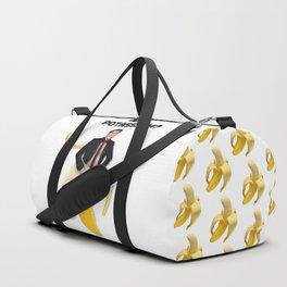 John Travolta in a peeled banana Duffle Bag