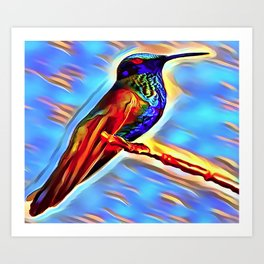 The HummingBird Art Print