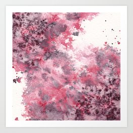 Watercolor Burst I Art Print