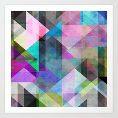Color Blocking 3 Art Print