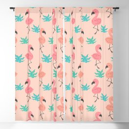 Tropical Flamingo pattern Blackout Curtain