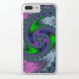 Fractal Twist Clear iPhone Case