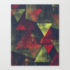 weathered triangles Canvas Print