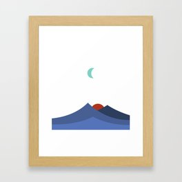 JAPANESE MOUNTAIN SUNSET Framed Art Print