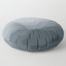Silver Dew Mountains Floor Pillow