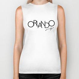 Orlando - Compressed City Beautiful - Word Art Biker Tank