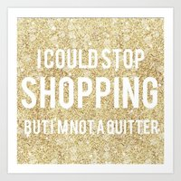shopping Art Prints featuring Shopping by LuxuryLivingNYC