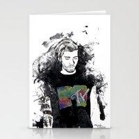 zayn malik Stationery Cards featuring Zayn Malik 1D by Mariam Tronchoni