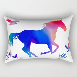 A horses freedom Rectangular Pillow