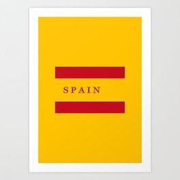World Cup: Spain Art Print