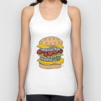 burger Tank Tops featuring Burger by Amber Lily Fryer