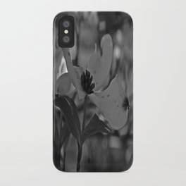 B&W Dogwood iPhone Case