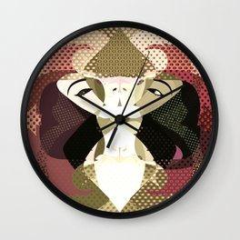 A red-haired woman - Abstrac35 Wall Clock