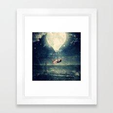 Moon Reverie over Paris Framed Art Print