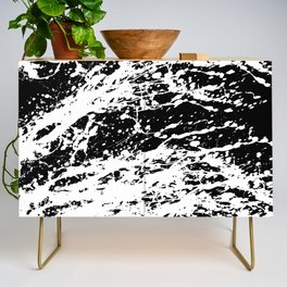 Black and White Paint Splatter Credenza