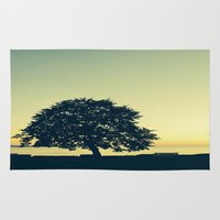 stanley kubrick Area & Throw Rugs featuring Sundown at Stanley Park by Alicia Gomez
