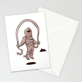 mummy jumping rope Stationery Cards