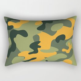 Green & Orange Camo Rectangular Pillow
