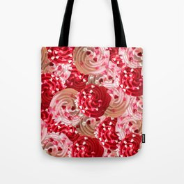 Tickle Me Pick Cream of Hearts Tote Bag
