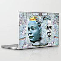 faces Laptop & iPad Skins featuring Faces by Ukridge