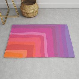 Vivid Vibrant Geometric Rainbow Rug