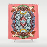 amy pond Shower Curtains featuring Pond  by Anukriti