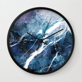 Purple abstract marble Wall Clock