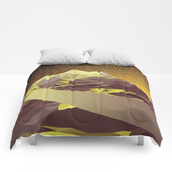 Night Mountains No. 9 Comforters