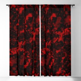 A gloomy cluster of red bodies on a dark background. Blackout Curtain