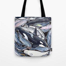 Dolphin, orca, beluga, narwhal & cie Tote Bag