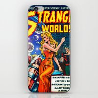 guardians of the galaxy iPhone & iPod Skins featuring STRANGE TALES - GALAXY GUARDIANS - REDUX by PD POP ART