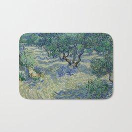 Vincent Van Gogh Olive Orchard Bath Mat