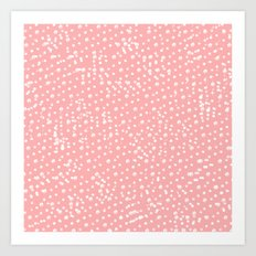 Dotted - Coral Art Print