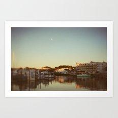 Harbor Moon Art Print