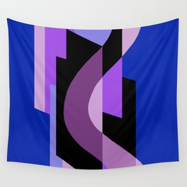 SUISSE - Art Deco Modern: BRIGHT MIDNIGHT Wall Tapestry