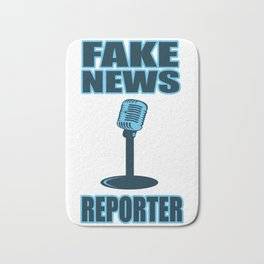 Fake News Lying Press Alternative Facts Gift Bath Mat