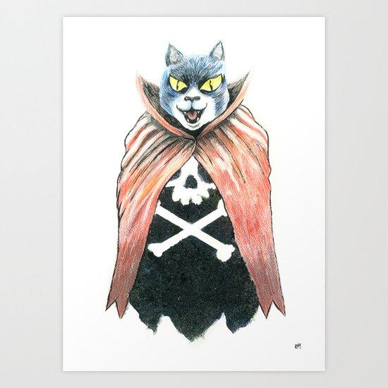 Cat Cape Art Print