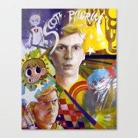 scott pilgrim Canvas Prints featuring SCOTT PILGRIM VS. MICHAEL CERA by spatsula