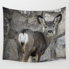 Young Mule Deer Wall Tapestry