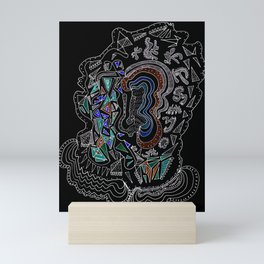Music Head Mini Art Print