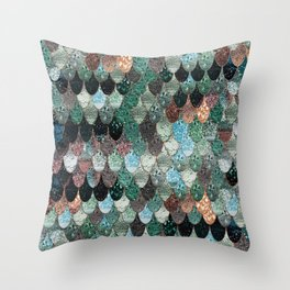 SUMMER MERMAID SEAWEED MIX by Monika Strigel Throw Pillow