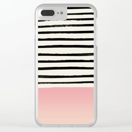 Blush x Stripes Clear iPhone Case