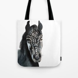 Shadow Wild Heart Horse Tote Bag